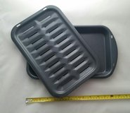 "Broiler Pan Broil Rack 13.5"" x 8.""New Porcelain Enameled Steel Toaster - $30 (Romeoville) in Shorewood, Illinois"