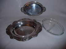 silver plated gorham oval serving vegetable dish with 2 handled lid yc1314-1 in Fort Benning, Georgia