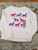 Kohls Brand New With Tags Girls Size 6 Long Sleeve Fleece Shirt With Pink and Purple Sequin Horses in Oswego, Illinois