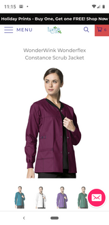 Wonderwink Scrub Jacket (Wine) Medium in Pearland, Texas