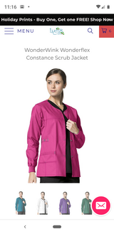 Wonderwink Scrub Jacket (Hot Pink) Medium in Pasadena, Texas