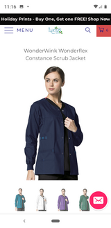 Wonderwink Scrub Jacket (Navy) Medium in Pasadena, Texas