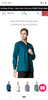 Wonderwink Scrub Jacket (Carribean Blue) Medium in Pearland, Texas