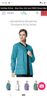 Wonderwink Scrub Jacket (Real Teal) Medium in Pearland, Texas