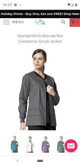 Wonderwink Scrub Jacket (Charcoal) Medium in Pearland, Texas