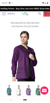 Wonderwink Scrub Jacket (Eggplant) Medium in Pearland, Texas