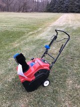 TORO POWER CLEAR 221QE Electric or pull start 1 owner with manual ready to work very good condit... in Naperville, Illinois
