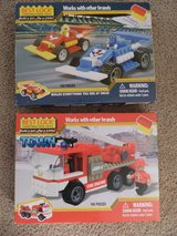 NEW Building Block Firetruck & Race Cars Sets in Kingwood, Texas