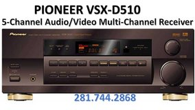 PIONEER Audio/Video 5-Channel FM/AM Tuner Receiver, Exc. Moving Hurry Call in Rosenberg, Texas