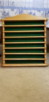 Oak Wood Golf Ball Display Wall Shelf - Holds 40 Golf Balls in Byron, Georgia