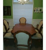 Formal Dining Set (table, chairs, cabinet) in Macon, Georgia
