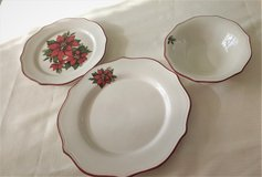 Christmas Poinsettia Dinner and Salad Plates and Bowls in Naperville, Illinois