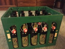 Empty 0.5l  (16.9 oz) Amber Beer Bottles for Home Brewing w/ Green Crate in Vacaville, California