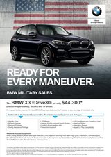 2019 BMW X3 Special Promo Offer in Stuttgart, GE