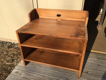 Barnwood TV stand in St. Charles, Illinois