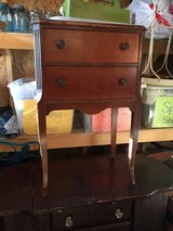 Vintage sewing cabinet w/swinging thread door in Naperville, Illinois
