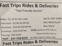 Rides & Complete delivery services in Fort Polk, Louisiana