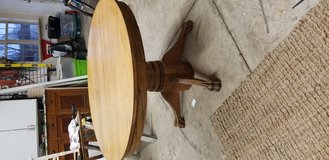 Antique clawfoot oak table in Yorkville, Illinois