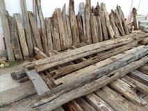 oak wood beams from year 1730 decoration in Ramstein, Germany