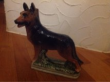 ! German Shephard Dog Ceramic Porcelain Figurine Statue Bottle in Ramstein, Germany