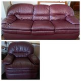 leather sofa bed and recliner in Vacaville, California