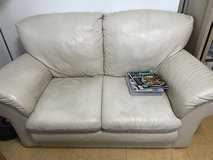 Older leather small couch for kids/pets in Okinawa, Japan