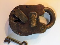 iron death row padlock with key in Camp Lejeune, North Carolina