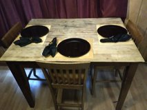 Kitchen table with 3 chair Matt's with plates in DeRidder, Louisiana