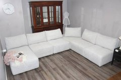 Modern Ming Sectional - Light Grey in Spring, Texas
