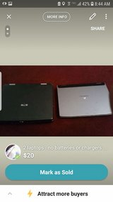 2 laptops . no batteries or chargers .. as is in Clarksville, Tennessee