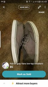 pair of gray Vans low-top sneakers in Fort Campbell, Kentucky