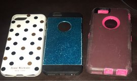 3 iPhone 6 and 7 phone cases ..all for 10 in Clarksville, Tennessee