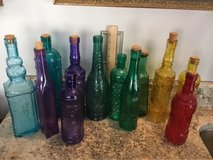 Glass Carved Decorative Bottles- 12 total-in excellent condition in Lackland AFB, Texas