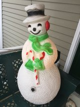 """Vintage Union Blow Mold 40"""" Lighted Snowman Christmas Yard Decoration in Glendale Heights, Illinois"""