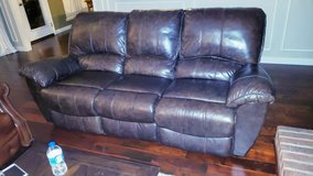 Leather Sofa - Reclines in Kingwood, Texas