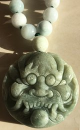 New Dragon Face Jade Necklace in Okinawa, Japan
