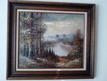 OIL PAINTING ON CANVAS ON WALNUT FRAME in Bolingbrook, Illinois