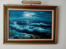 A VINTAGE OIL PAINTING ON CANVAS WITH LIGHTING in Bolingbrook, Illinois