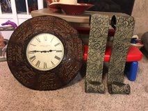 Clock & candle holders in Houston, Texas
