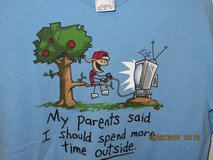 "Boys XL 100% Cotton Graphic Tee ""My parent's said I should spend more time outside"" in Glendale Heights, Illinois"