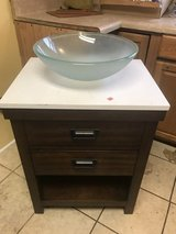 Marble Top Vanity with Frosted bowl in Byron, Georgia