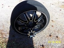 "3 Gitano Rims 20"", Black Machined W/Stripe in Spring, Texas"