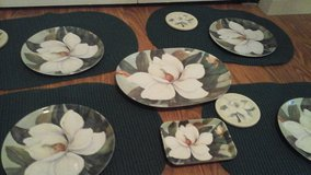 Summertime Magnolia Flowered Complete Table Setting 4 Piece in Glendale Heights, Illinois