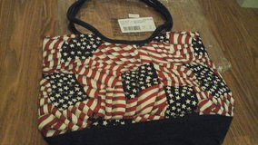 "patriotic red white blue American flag tote bag/purse ""NEW"" in Chicago, Illinois"