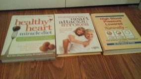 3 Book Set Health Heart Miracle Diet Conquering Heart Attacks & Strokes High Blood Pressure  Low... in Batavia, Illinois