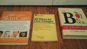 3 Book Set Skin Care The Big Health Book 10 Ways to Live Longer in Aurora, Illinois