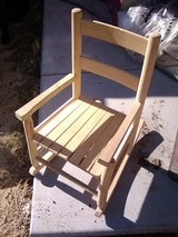 Child's Wood Rocker in Yucca Valley, California