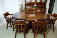 Stunning and Rare Design Thomasville Solid Wood Dining Room Furniture with Hutch - 1972 in Baytown, Texas