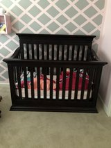 Crib, changing table and rocking chair with ottoman in Fort Belvoir, Virginia