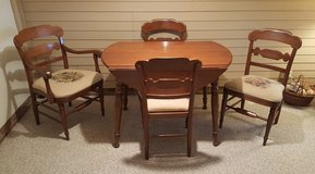 SOLID CHERRY dinning set with table, 4 chairs and leaf in Camp Lejeune, North Carolina